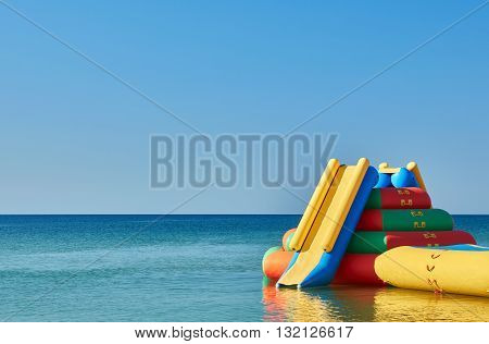 Water Inflatable Slide Attraction