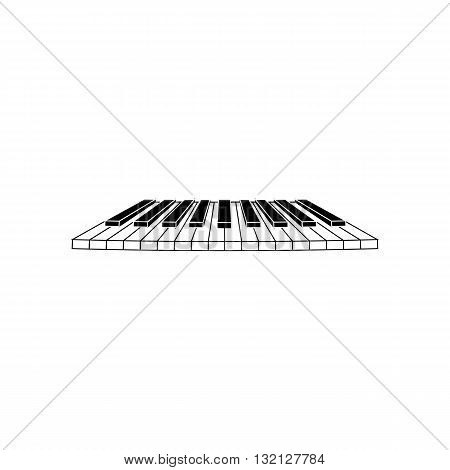 Piano clavier keys vector illustration isolated on white background.