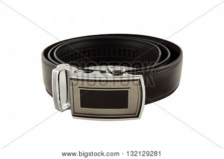 Men's Leather Belt With A Buckle