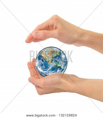 Earth In Human Hands Nasa