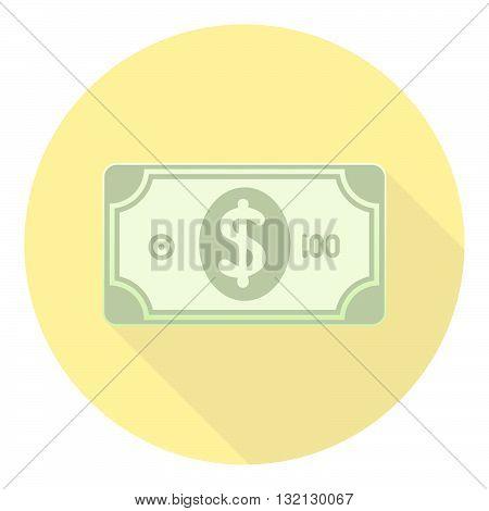 Paper Money American Dollars Cash Flat Cartoon Style