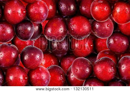 Ripe juicy plum . Texture background plum