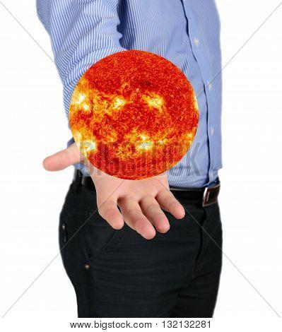 The Sun In His Hand Man Nasa