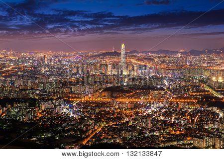 KoreaSeoul City Skyline , seoul South Korea.