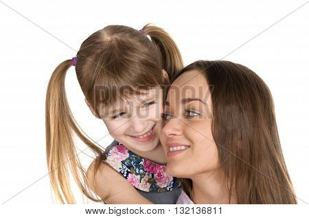 Mother and daughter love each other. Mother's Day Celebration