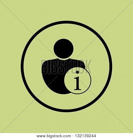 User Info Icon In Vector Format. Premium Quality User Info Symbol. Web Graphic User Info Sign On Gre