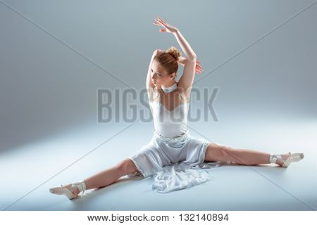 Young Beautiful Dancer Warming-up