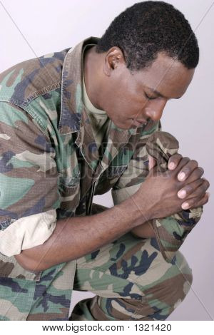 Marine Praying