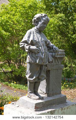 Sculpture Volodya Ulyanov (Lenin) - leader of the Soviet revolutionaries. Nizhny Tagil, Sverdlovsk region. Russia. May 26, 2016