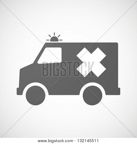 Isolated Ambulance Icon With An Irritating Substance Sign