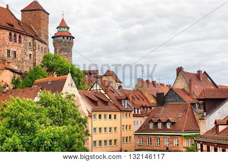 Picturesque view of Old Town in Nuremberg, Germany