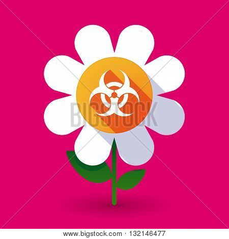 Vector Flower With A Biohazard Sign