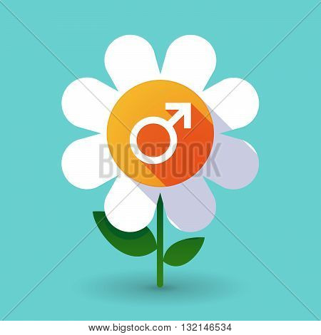 Vector Flower With A Male Sign