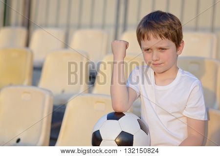 Disappointed Little Football Fan