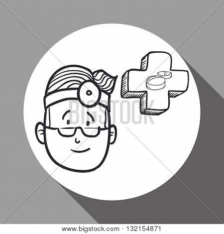 Medial care concept with icon design, vector illustration 10 eps graphic.