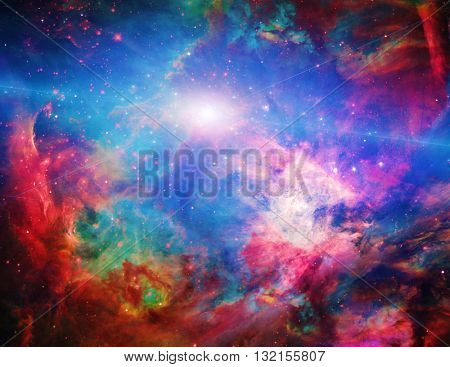 Galactic Space Elements of this image furnished by NASA 3D Render