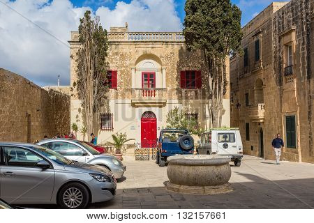 Mdina Malta - May 04 2016: The beautiful architecture of Mdina Malta - Old Capital and the Silent City of Malta - Medieval Town