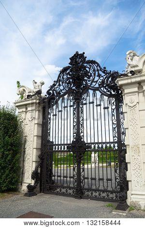 entrance gate of Belvedere castle in Vienna