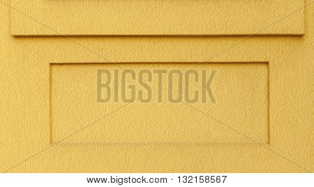 Yellow Textured Background with Square Ledge and Recess