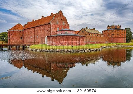 An image of the Landskrona citadel in the skane region of Sweden.