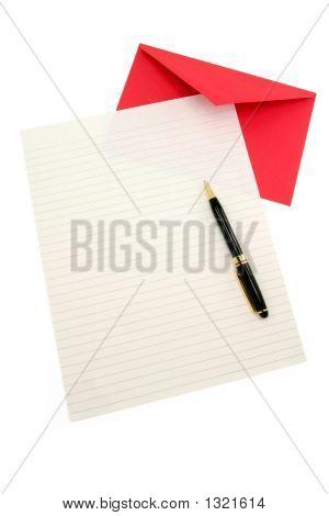 Briefpapier und red Umschlag