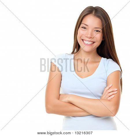 Asian People: Casual Asian Woman Isolated
