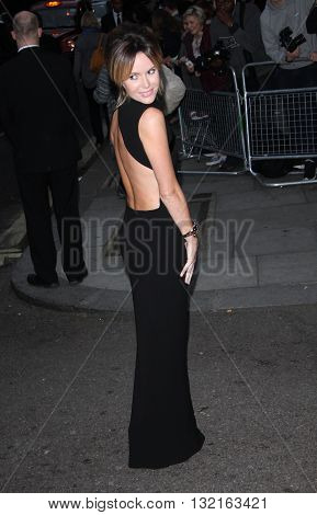 LONDON,  UK - OCTOBER 7, 2013: Amanda Holden attends the Pride of Britain awards at Grosvenor House taken in a public area in London