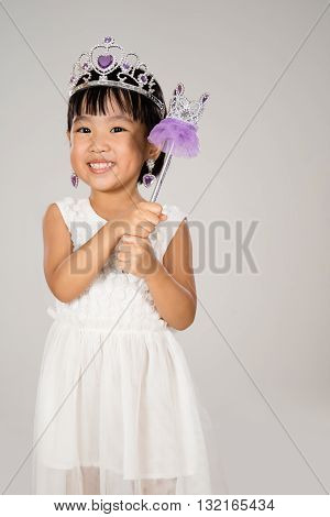 Asian Little Chinese Girl In Princess Costume