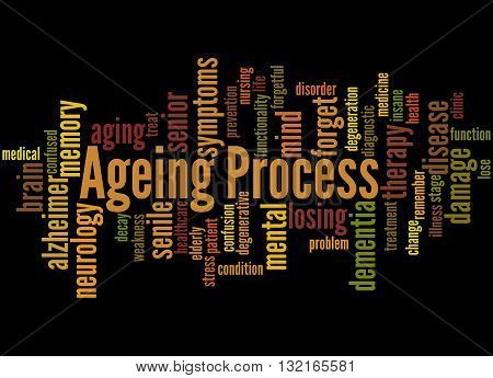 Ageing Process, Word Cloud Concept 5