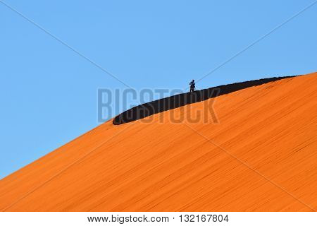 Dune No.45 at sunrise. Most popular dune in the whole World. Namibia Africa