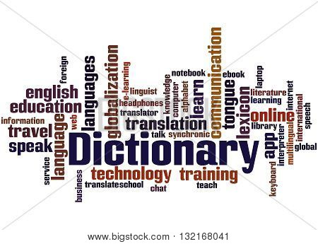 Dictionary, Word Cloud Concept
