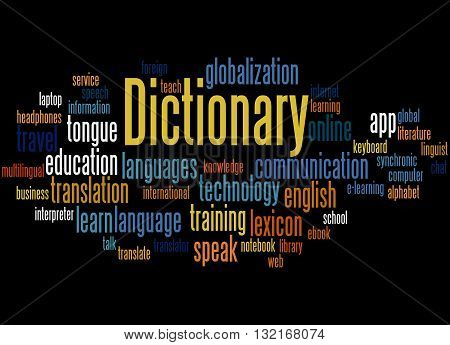 Dictionary, Word Cloud Concept 2