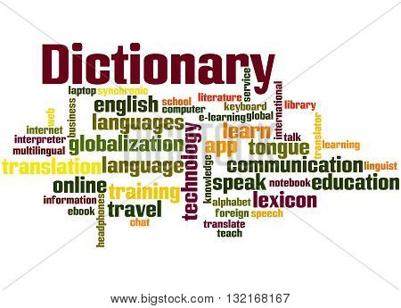 Dictionary, Word Cloud Concept 5