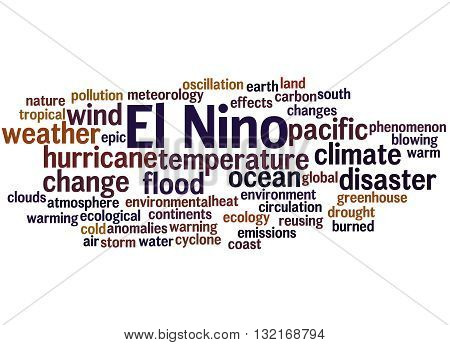 El Nino, Word Cloud Concept 5