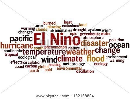 El Nino, Word Cloud Concept 6