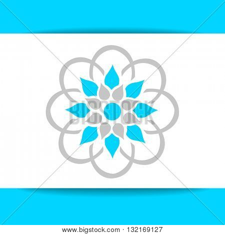 Arabic logo template. Islamic logo. Arabic flower sign. Vector ornamental symbol. Islamic style design template with logo.