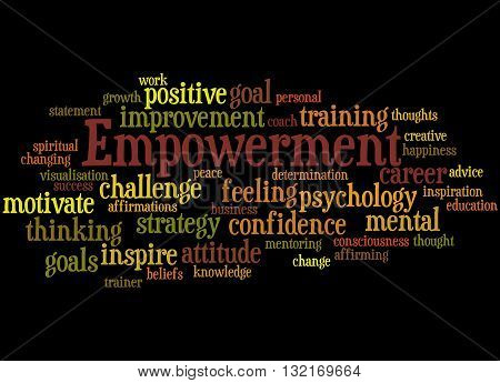 Empowerment, Word Cloud Concept 5