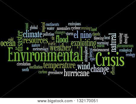 Environmental Crisis, Word Cloud Concept 5