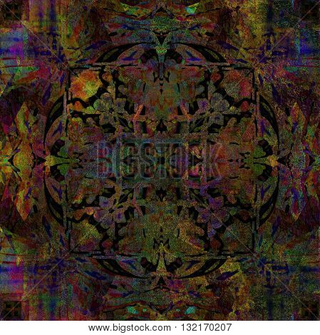 dark abstract design, background colored shabby texture