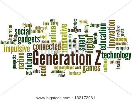 Generation Z, Word Cloud Concept 2