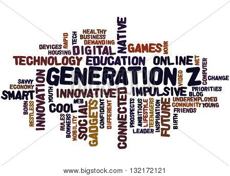 Generation Z, Word Cloud Concept 4