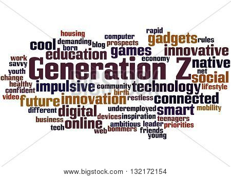 Generation Z, Word Cloud Concept 5