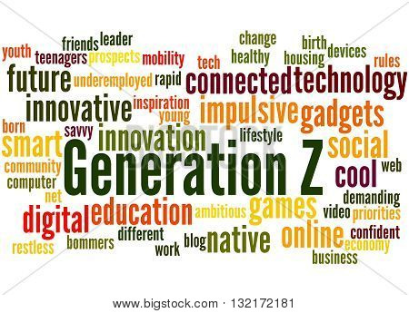 Generation Z, Word Cloud Concept 6