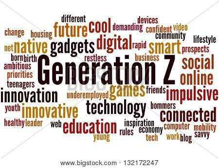 Generation Z, Word Cloud Concept 8