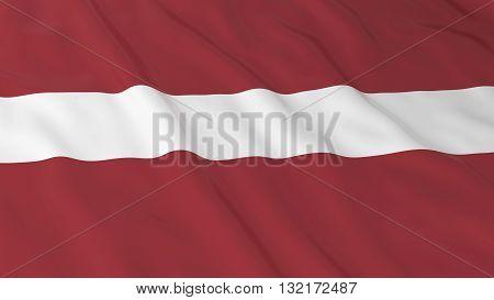 Latvian Flag HD Background - Flag of Latvia 3D Illustration