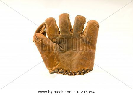 Old Leather Baseball Mitt