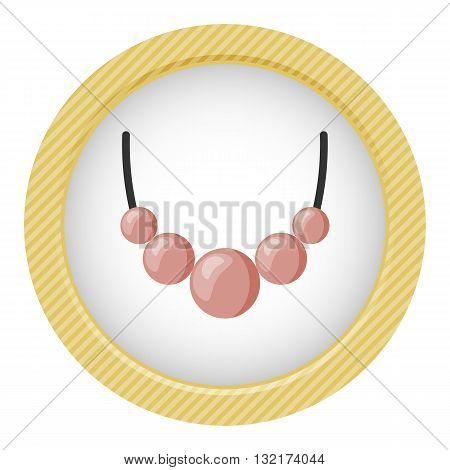 Bead colorful icon. Vector illustration in cartoon style