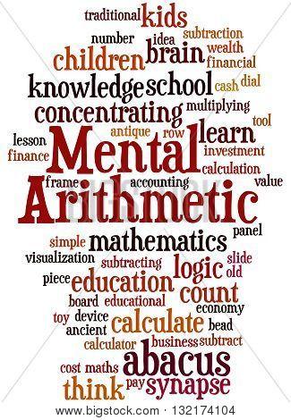 Mental Arithmetic, Word Cloud Concept 9