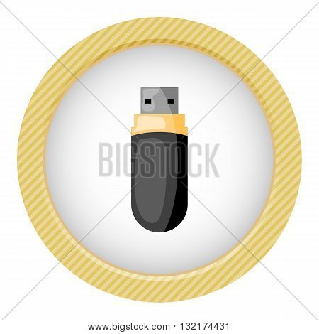 Usb colorful icon. Vector illustration in cartoon style