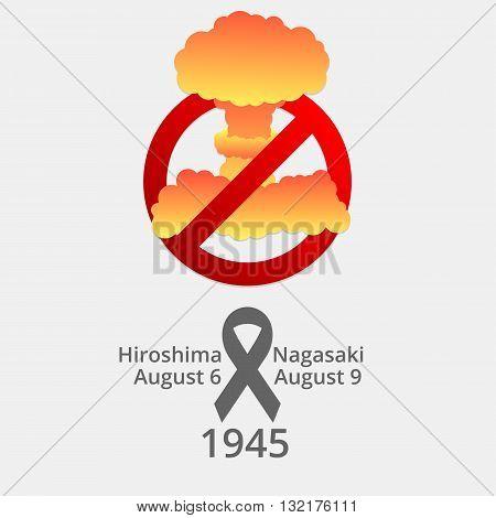 Nuclear explosion, no war. Hiroshima and Nagasaki poster.